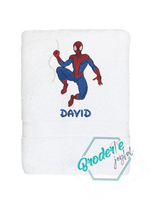 Prosop de baie brodat Spider man