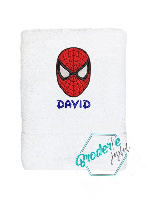 Prosop de baie brodat David Spider man