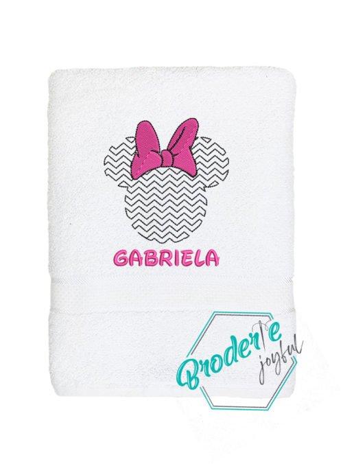 Prosop de baie brodat Gabriela