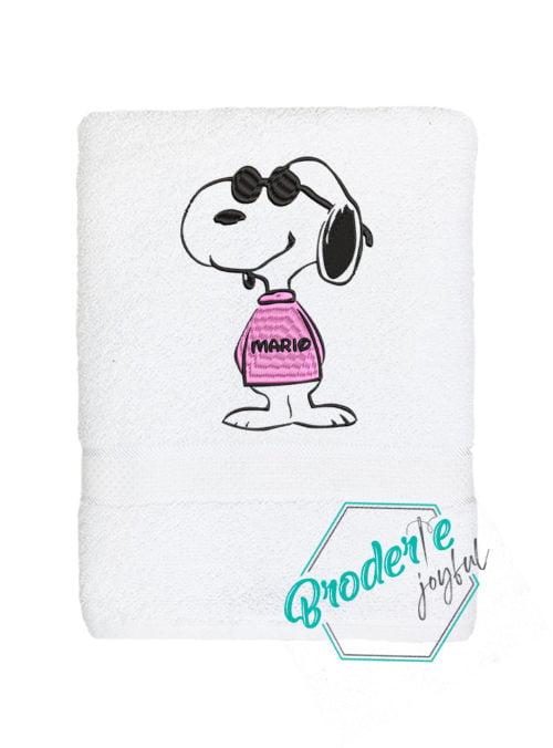 Prosop de baie brodat Snoopy
