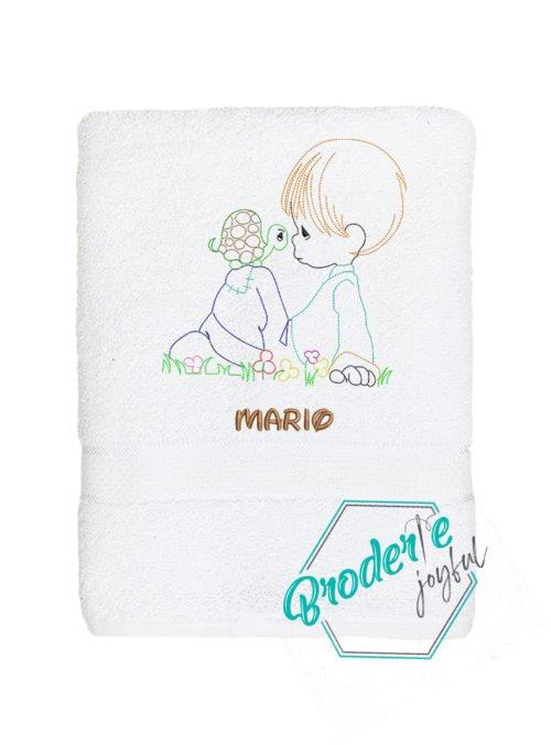 Prosop de baie brodat baby Mario