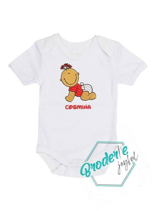 Body bebe brodat baby girl Cosmina