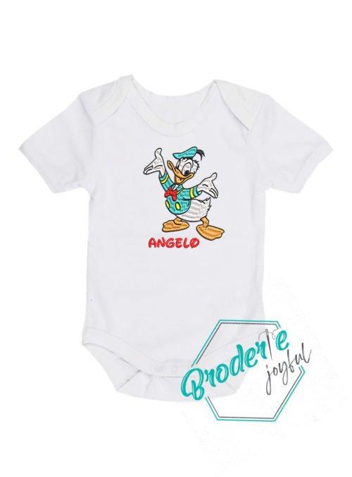 Body bebe brodat Donald duck Angelo