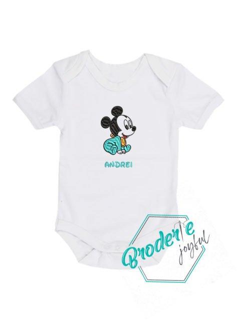 Body bebe brodat baby Mickey Andrei