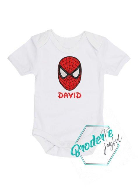 Body bebe brodat spider little David