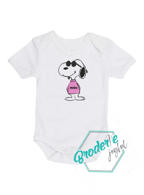 Body bebe brodat Snoopy Misu