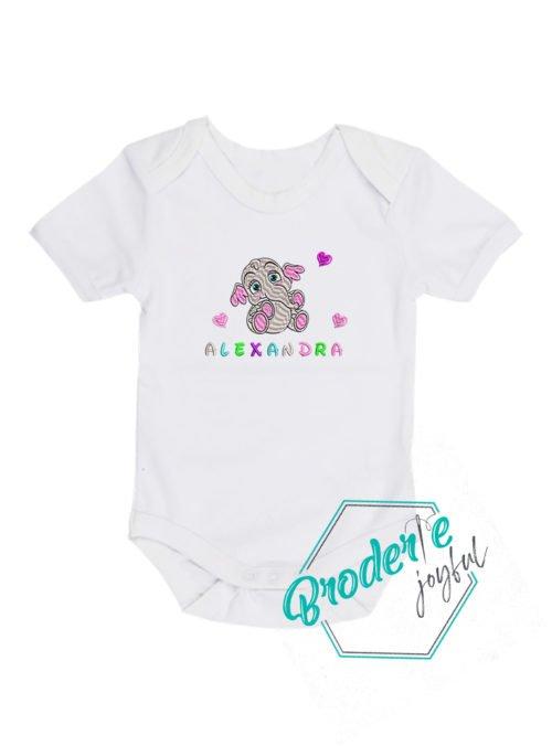Body bebe brodat elefantel Alexandra