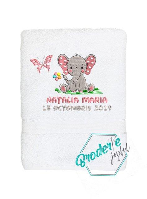 Prosop de baie brodat Natalia Maria
