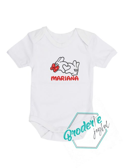 Body bebe brodat Minnie Mariana