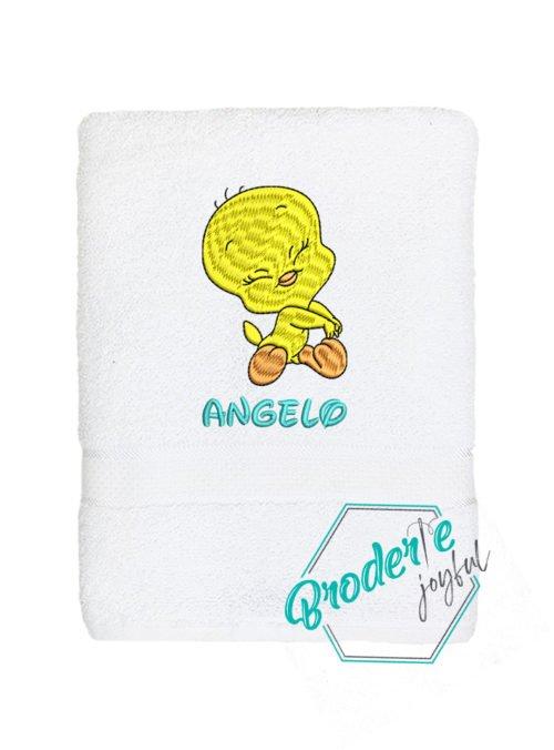 Prosop de baie brodat Tweety Angelo