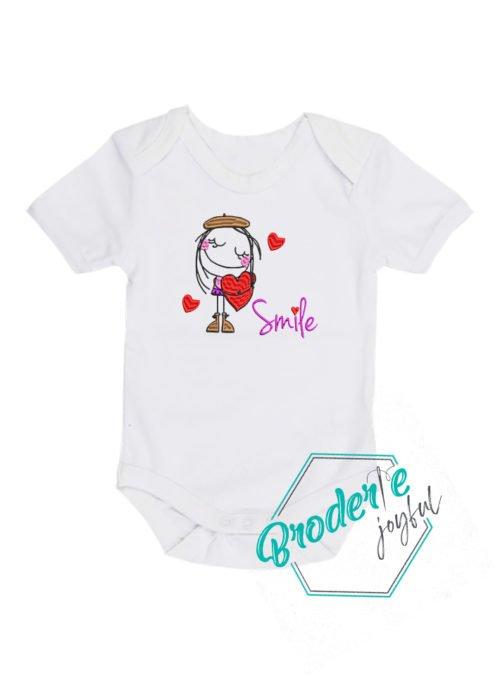 Body bebe brodat baby smile