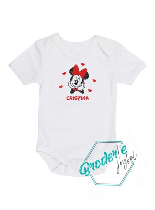 Body bebe brodat Minnie Cristina