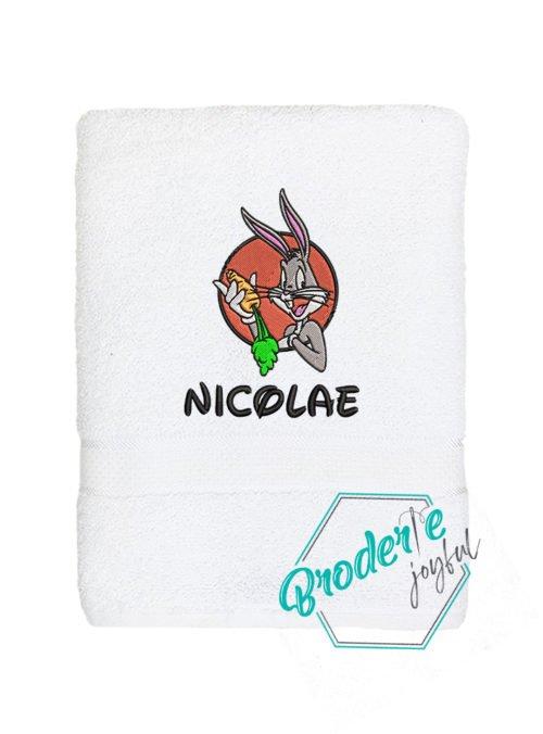 Prosop de baie brodat Nicolae