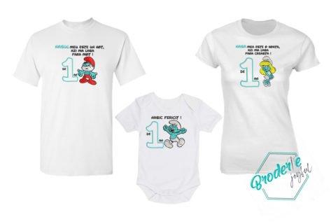 Set tricouri personalizate mot strumfi nasi