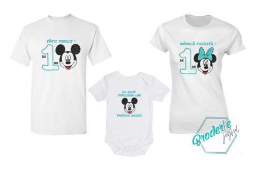 Set tricouri personalizate mot Mickey parinti