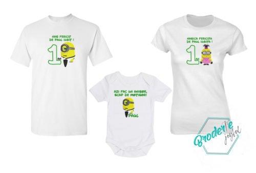 Set tricouri personalizate mot nasi Paul