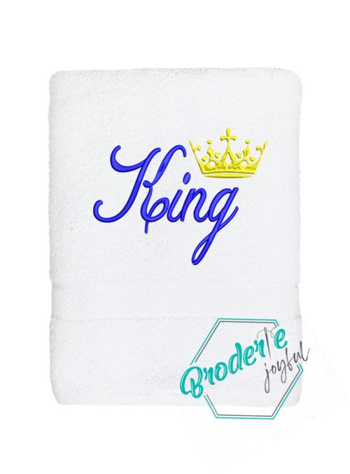 Prosop brodat King Blue