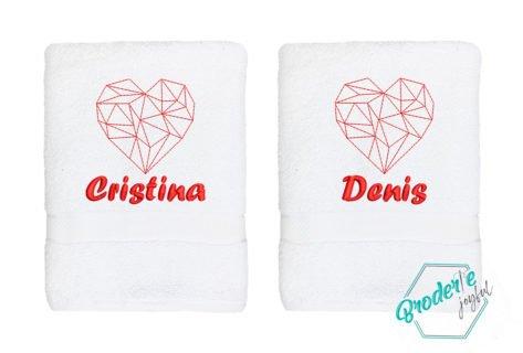 Set prosoape brodate Cristina&Denis