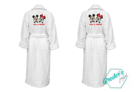 Set halate de baie personalizate Mickey&Minnie