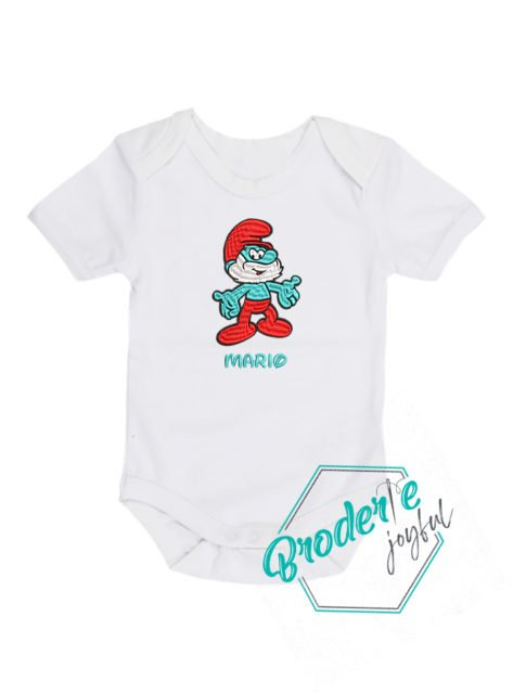 Body bebe brodat strumf Mario