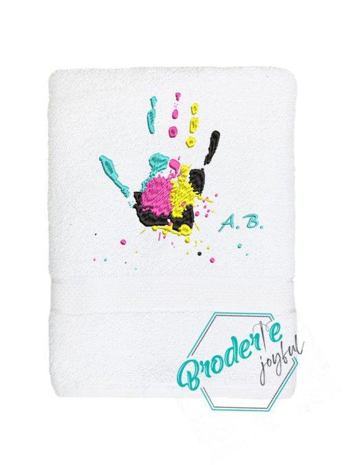 Prosop brodat handprint colors