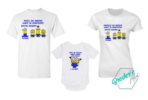 Set tricouri personalizate mot minioni