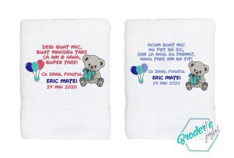 Set prosoape personalizate nasi botez Eric