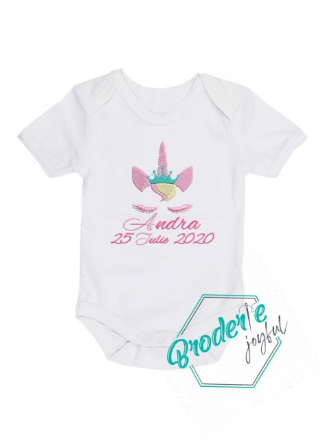 Body bebe personalizat unicorn Andra