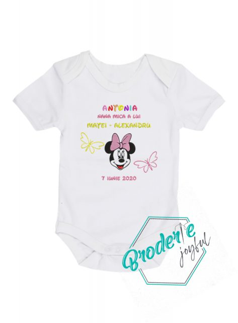 Body bebe personalizat Minnie Antonia