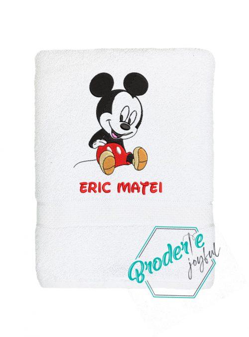 Prosop de baie personalizat baby Mickey