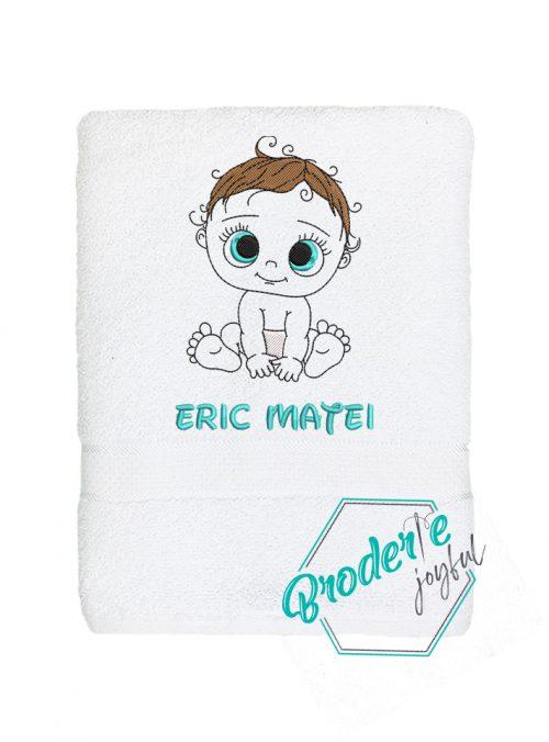 Prosop de baie personalizat bebe adorabil