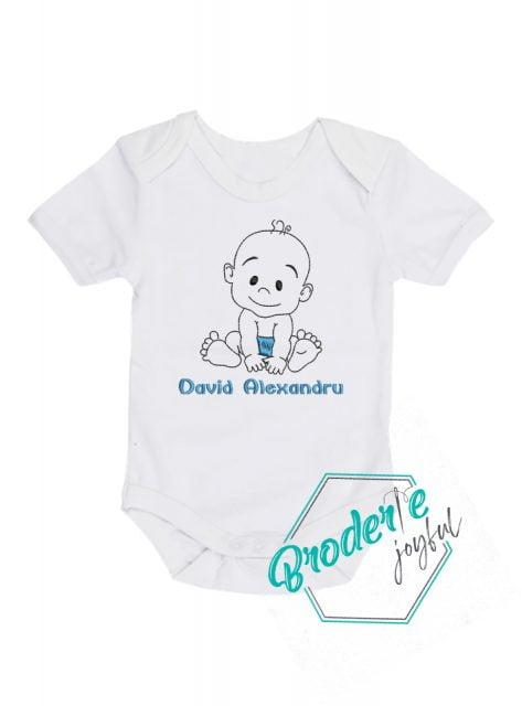 Body bebe personalizat/brodat Baby Boy