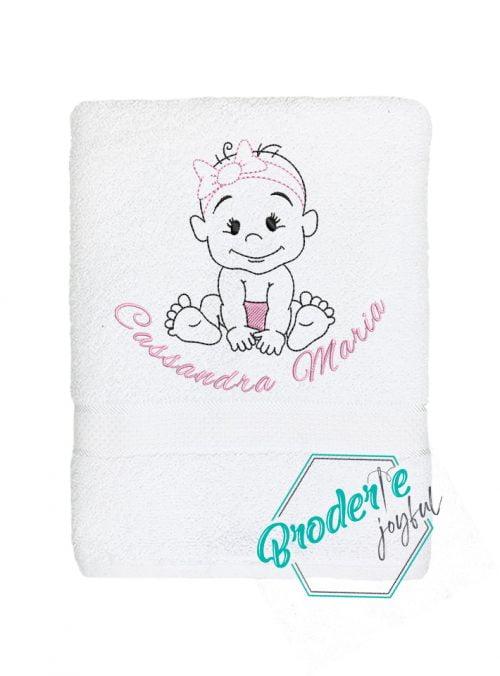 Prosop de baie personalizat baby girl