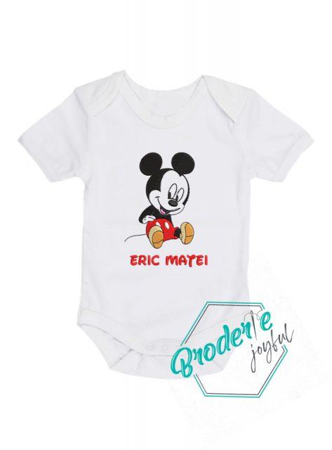 Body bebe personalizat/brodat Baby Mickey