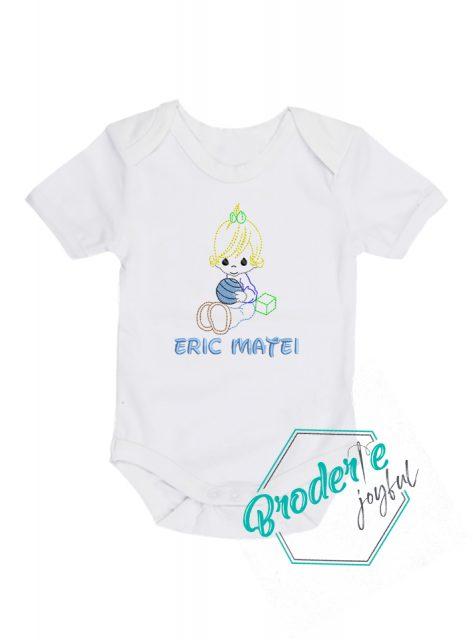 Body bebe personalizat/brodat Eric Matei