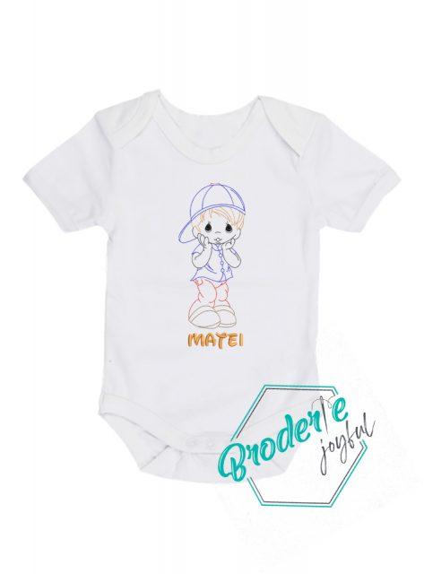 Body bebe personalizat/brodat baby Matei