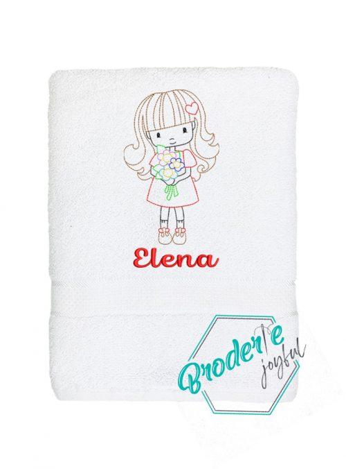 Prosop de baie personalizat Elena