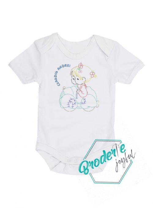 Body bebe personalizat/brodat Claudiu Andrei