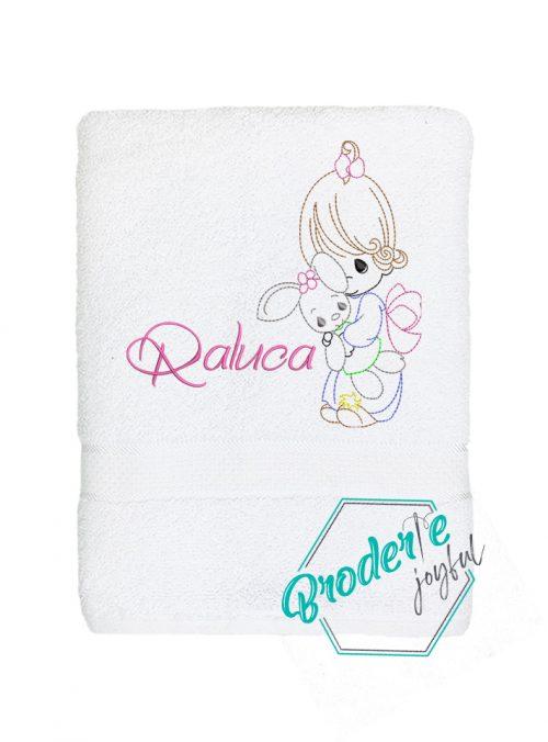 Prosop de baie personalizat baby Raluca