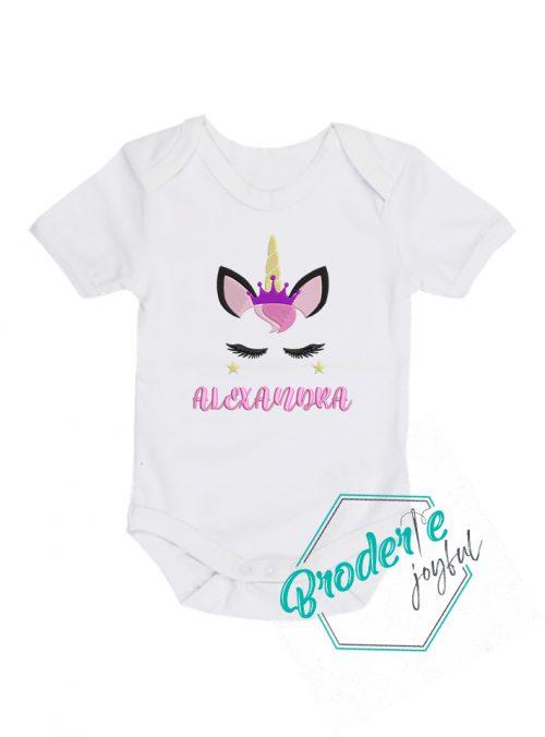 Body bebe personalizat unicorn Alexandra