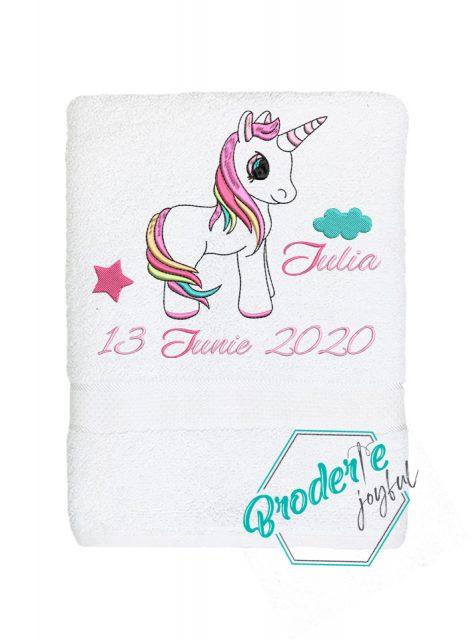 Prosop de baie personalizat Unicorn Iulia