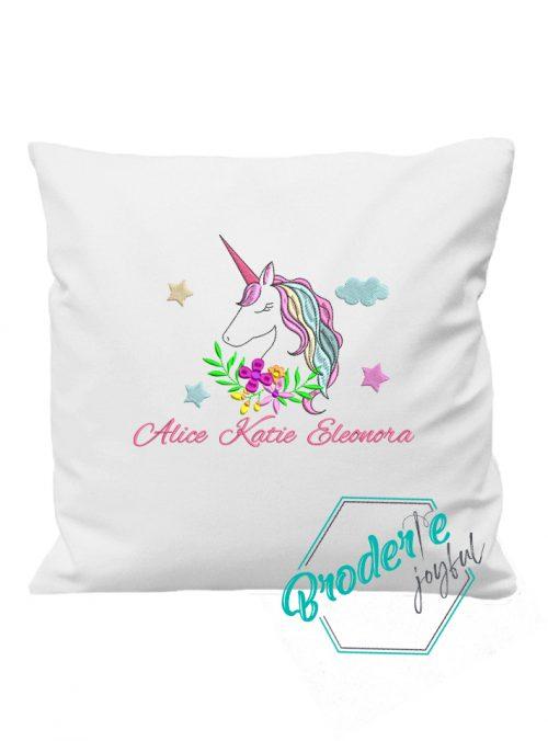 Pernuta brodata unicorn Alice
