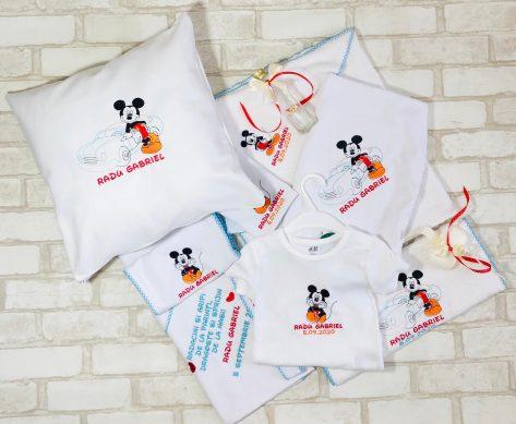 Set Trusou Botez personalizat Mickey Mouse Radu