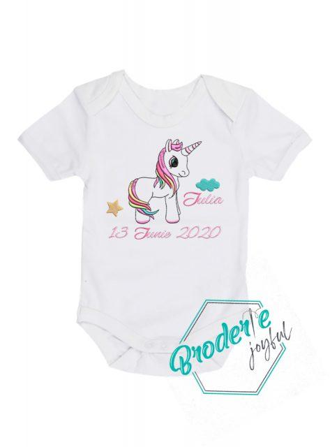 Body bebe personalizat unicorn Iulia