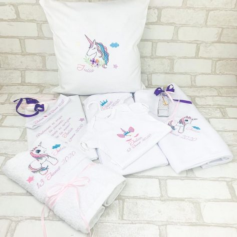 Set Trusou Botez personalizat unicorn Iulia