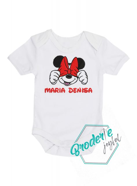 Body bebe personalizat Minnie Maria