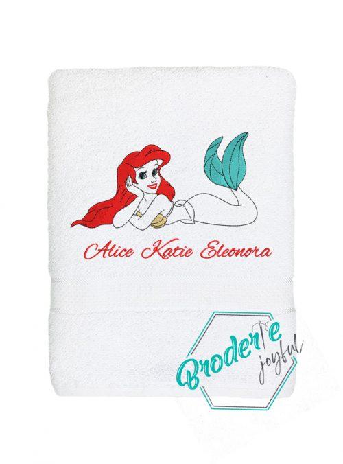 Prosop de baie personalizat Ariel Katie