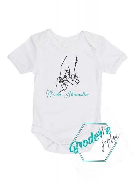 Body bebe personalizat/brodat pure love