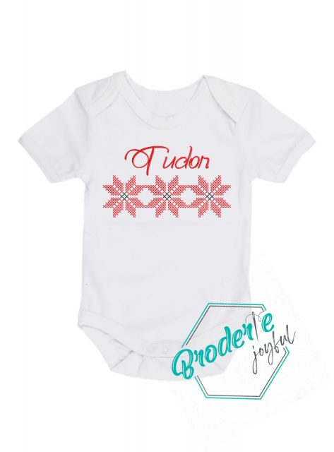 Body bebe personalizat/brodat traditional