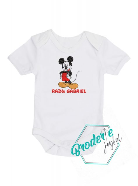 Body bebe personalizat/brodat Mickey Radu